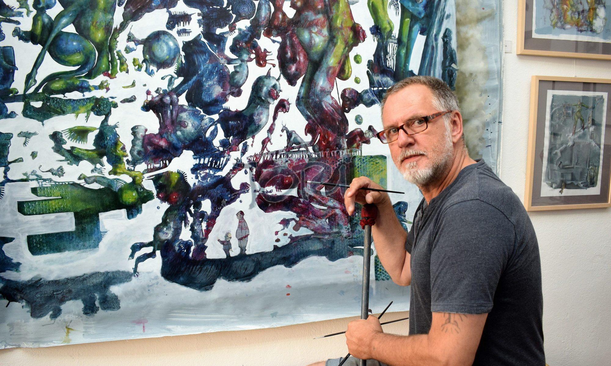 Joachim Jori Niggemeyer . Malerei . Zeichnung . Cartoon . Skulptur